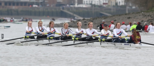 Second place for girls on Tideway
